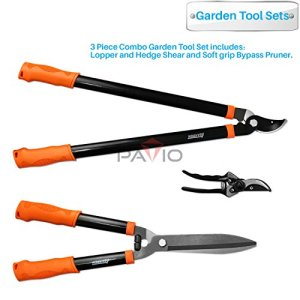 iGarden 3 Piece Tree and Shrub Lopper-Shears-Purner Set
