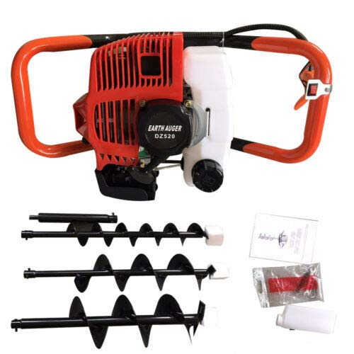 HYYKJ 2-Stroke 2.3HP Gas Powered Post Hole Digger Ground Fence