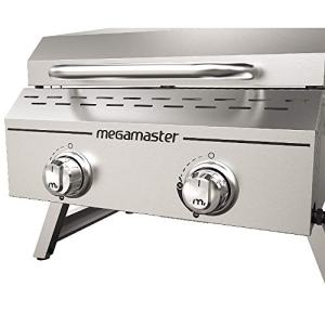 Megamaster Propane Gas Grill, Stainless Steel don't go away residence in your subsequent journey with out your Megamaster two burner propane gasoline tabletop grill