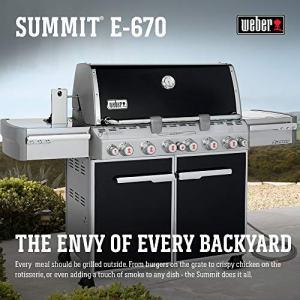 Weber Summit 6-Burner Natural Gas Grill, Black