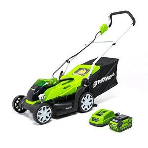 Greenworks 14-Inch 40V Cordless Lawn Mower, 4.0 AH Battery Included