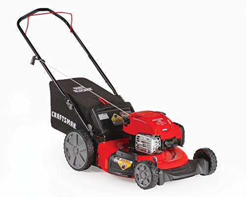Craftsman Briggs & Stratton 675 exi 21-Inch 3-in-1 Gas Powered Craftsman M125 163cc Briggs & Stratton 675 exi 21-Inch 3-in-1 Gas Powered Push Lawn Mower with Bagger.