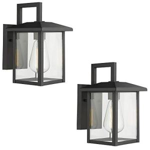 Emliviar Outdoor Lights Wall Mount 2 Pack, Exterior Light Fixtures