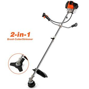 COOCHEER 42.7CC 2-Cycle Gas Straight Shaft String Trimmer and Brush Cutter