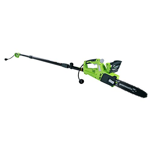 """Greenworks 10"""" 6 Amp Corded Chainsaw with Pole Saw Attachment"""
