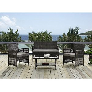 IDS Home Brown Color Patio Furniture Coversation Set