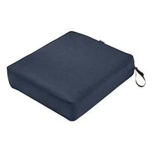 Classic Accessories Montlake Seat Cushion Foam & Slip Cover, Heather Indigo