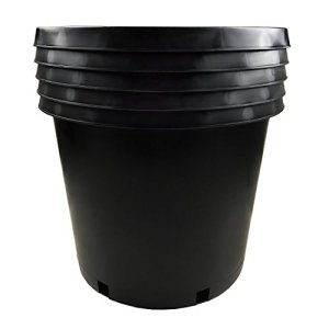Calipots 5-Pack 15 Gallon Premium Black Plastic Nursery Plant Container