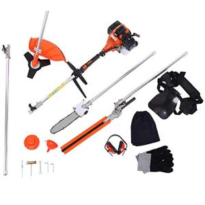 TryE 52cc 5 in 1 Chainsaw Brush Cutter Grass Hedge Trimmer and Extension Pole