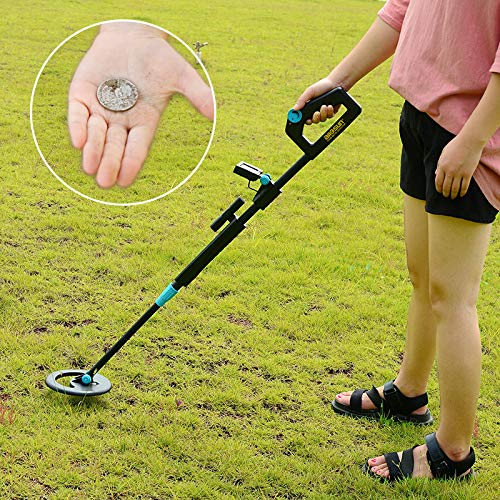 ALLOSUN Junior Metal Detector with Waterproof, Black