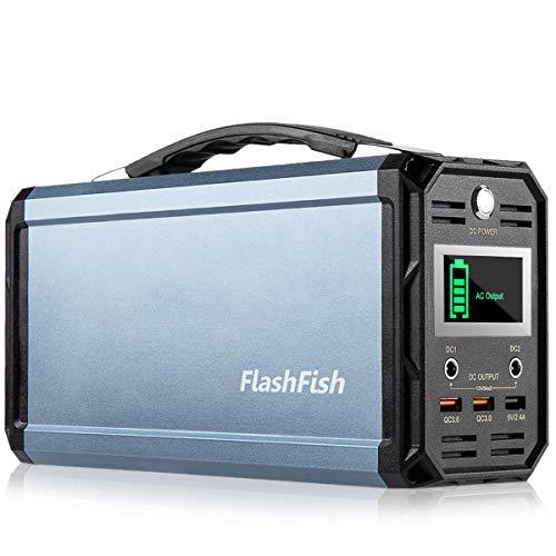 300W Portable Generator, FlashFish 60000mAh Power Supply Station Camping Solar