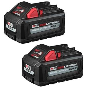 Milwaukee18-Volt Lithium-Ion High Output 6.0Ah Battery Pack (2-Pack)
