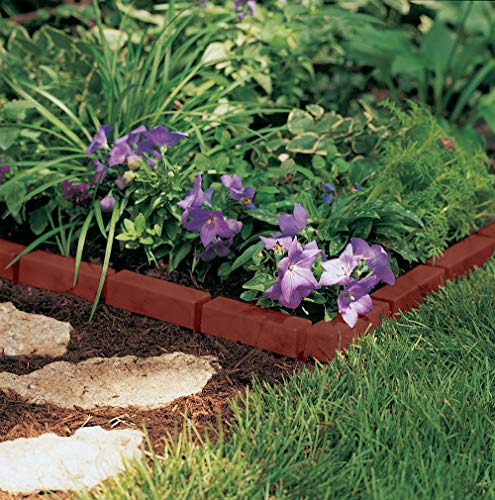 Suncast Interlocking No Dig Border Edging - Brick - Resin Construction for Garden NO DIG INSTALLATION: Sections of edging simply slide together and can be tapped with a mallet, which eliminates digging DURABLE: Resin construction is sturdy and weatherproof to last for season after season keeping your garden, flowers, and other landscape looking stunning DECORATIVE: Brick like design adds a flair compliments all parts of your garden, outdoor décor, and landcaping space CONTAINMENT: Use to keep weeds, grass, and stray hoses out of your gardening beds VERSATILE: Flexible edging can be made to create curves around trees or 90 degree corners around flower beds helping you create the garden border you desire This Suncast Interlocking border edging can keep weeds, grass, and stray hoses out of your gardening beds. Its quick Quick Edge border offers you an easy way to achieve the look you want for your garden, flower bed, and other parts of your landscape. No digging is required; just slide sections together and tap into place with a mallet. The bricklike poly is sturdy and weatherproof, and is designed for season after season of year-round use. The edging can be used to make gentle curves around trees or flower beds, straight lengths along walkways, or manage 90 degree corners. Versatile and easy to use, Quick Edge is an economical way to border your garden beautifully.