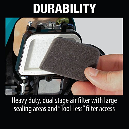 Makita 25.4 cc MM4 4-Stroke Couple Shaft Power Head Quick release couple shaft Attachment for use with multiple attachments Heavy duty, dual stage air filter with large sealing areas is replaceable and easily accessible Powerful fuel efficient 25.4 cc, 4-stroke commercial duty engine Multi-position lubrication system enables engine to be inclined to any angle even during continuous operation Mechanical Automatic engine decompression for quicker, easier starts The Makita 25.4 cc MM4 couple shaft string trimmer (model EX2650LH) delivers power & ease-of-use for commercial duty applications. The Makita 4 Stroke commercial duty engine requires no fuel mixing, & the multi-position lubrication system enables engine to be inclined to any angle for continuous operation. For added convenience, the trimmer is engineered with Mechanical Automatic engine decompression for quicker, easier starts. In addition, the commercial duty dual stage air filter with large sealing areas is replaceable & easily accessible, & the oil filling port & drain plug are easily accessible with oil level view window for easy checking & Replacing of oil. The EX2650LH has a quick release coupling for easy swapping between the multiple available attachments. It has a compact design with less weight, & is engineered for less vibration With a durable steel drive shaft. The EX2650LH meets or exceeds EPA & carb exhaust & evaporative emissions regulations.