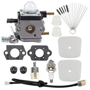 Hayskill C1U-K54A Carburetor with Air Filter Repower Kit for Mantis Tiller 7222 7222E 7222M 7225 7230 7234 7240 7920 7924 Cultivator TC-210 TC-210i TC-2100 C1U-K46 C1U-K82 C1U-27 C1U-K17