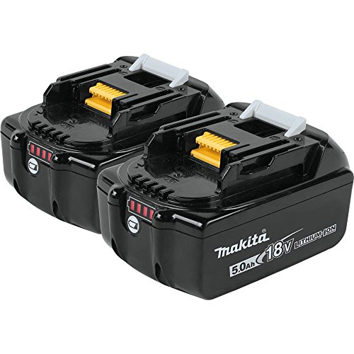 Makita 18V LXT Lithium-Ion 5.0Ah Battery Twin Pack