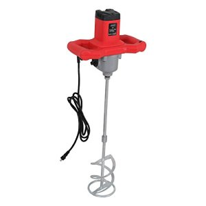 HomGarden Adjustable 7 Speed Handheld 1600W Electric Concrete Cement Mixer Adjustable Thinset Mortar Grout Plaster Cement Mixer Stirring Tool AC 110V