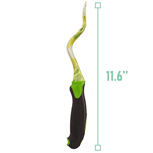 RED OAK TOOLS Garden Hand Weeder, 11.6'' Stainless Steel Blade with Floral Printing for Planting and Weeding