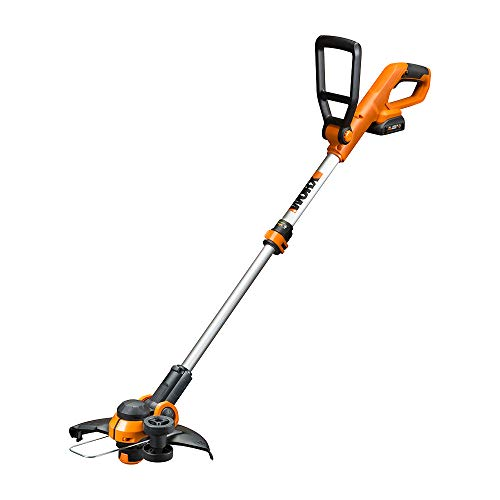 """Worx WG162 20V 12"""" Cordless String Trimmer/Edger, Battery and Charger Included,Black and Orange"""
