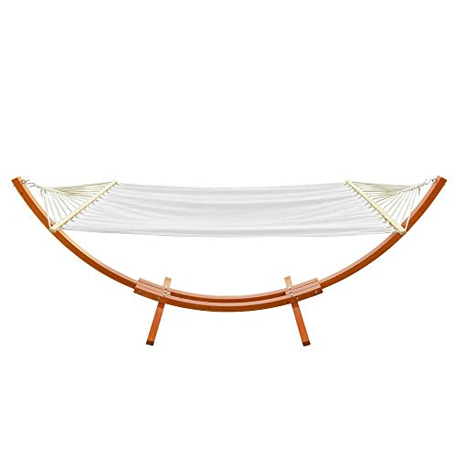 ONCLOUD Hammock Wood Arc Stand with Double Hammock (10.5 ft)