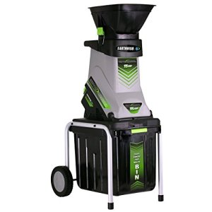 Earthwise GS70015 15-Amp Garden Corded Electric Chipper/Shredder, Collection Bin