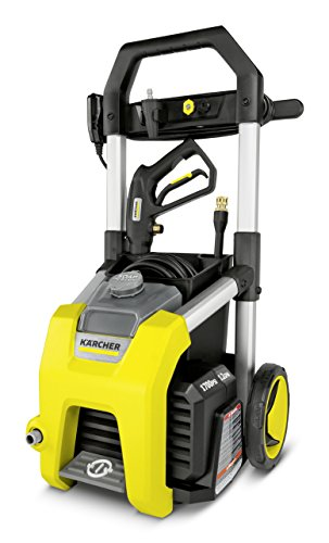 Karcher K1700 Electric Power Pressure Washer 1700 PSI TruPressure, 3-Year Warranty, Turbo Nozzle Included,Yellow