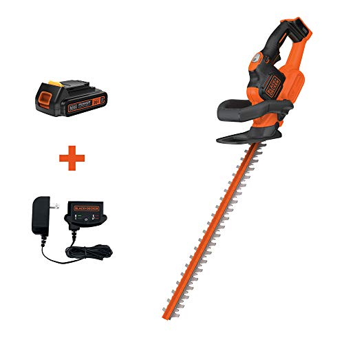 BLACK+DECKER 20V MAX Cordless Hedge Trimmer with POWERCOMMAND Powercut, 22-Inch (LHT321FF)