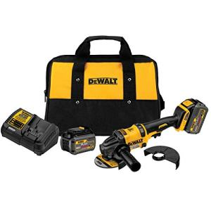 DEWALT FLEXVOLT 60V MAX Angle Grinder with Kickback Brake Kit, 2 Batteries (DCG414T2)