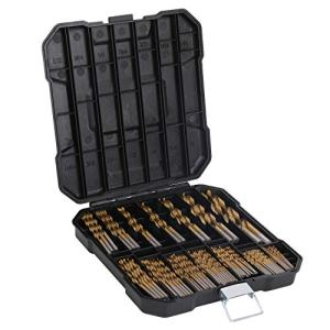 99 Pieces Titanium Drill Bit Set, High Speed Steel, for Wood,Metal,Aluminum Alloy