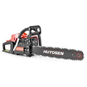 HUYOSEN Gas Power Chain Saws Corded 54.6 CC 2 Cycle Gas Powered Chainsaw Guide Bar Size 20 inchs 0.325 inchs 76DL Chain Guide Bar