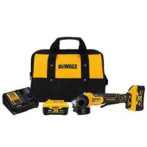 DEWALT 20V MAX Angle Grinder Tool Kit, 4-1/2-Inch, Paddle Switch with Brake (DCG413R2)