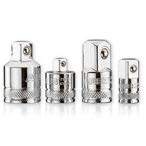 ARES 70007 - 4-Piece Socket Adapter and Reducer Set - 1/4-Inch, 3/8-Inch, & 1/2-Inch Ratchet/Socket Set Extension/Conversion Kit - Premium Chrome Vanadium Steel with Mirror Finish