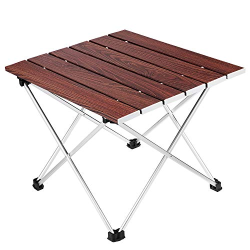 Camping Folding Table, Ledeak Portable Lightweight Foldable Compact Small Roll up Table with Carry Bag, Perfect for Outdoor, Camping, Picnic, Beach, Hiking, Easy to Install & Clean