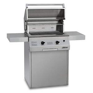 Solaire 27-Inch Deluxe Infrared Propane Grill on Square Cart with Rotisserie Kit, Stainless Steel
