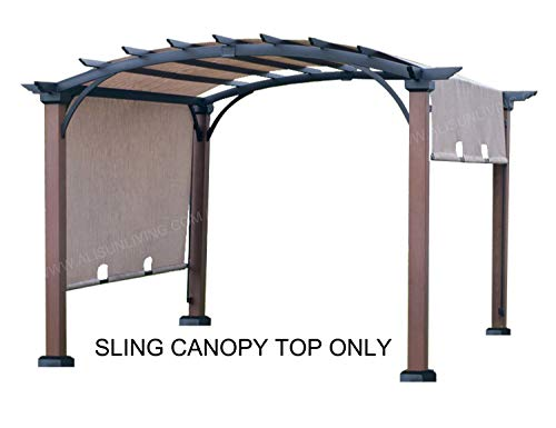 """ALISUN Replacement Sling Canopy (with Ties) for The Lowe's Allen + roth 10 ft x 10 ft Tan/Black Material Freestanding Pergola #L-PG152PST-B (Size: 200"""" (L) x 103"""" (W))"""