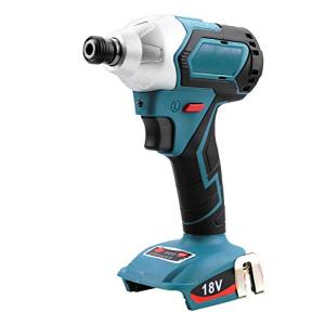 """Cordless Impact Driver 1/4"""" 0-3300 RPM 4-Speed Brushless Impact Screwdriver with LED Work Light, 330 Nm, Compatible With Makita 18v Lithium Battery - BLFR1218B (TOOL ONLY)"""