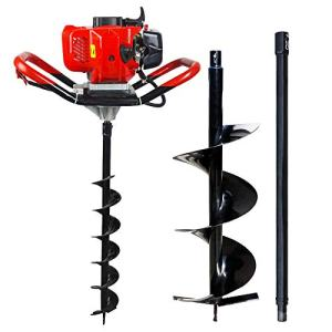 """ECO LLC 52cc 2.4HP Gas Powered Post Hole Digger with 10"""" Earth Auger Drill Bit + Extention"""