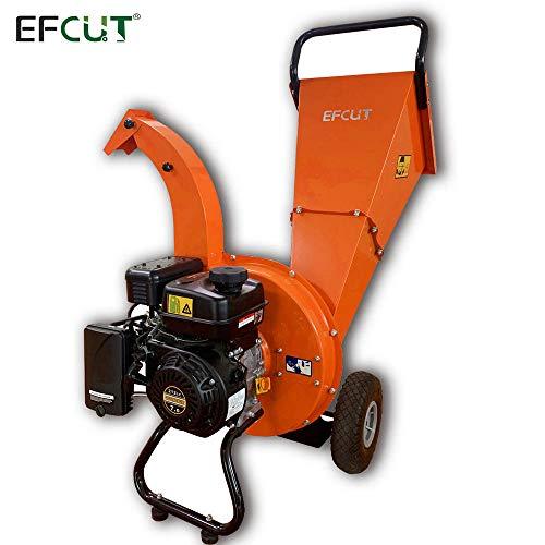 EFCUT C30 Mini Wood Chipper Shredder Mulcher 7 HP 212cc Heavy Duty Engine Gas Powered 3 inch Max Wood Diameter Capacity Reduction Rate 20:1 3-Year Warranty, EPA/CARB Certified
