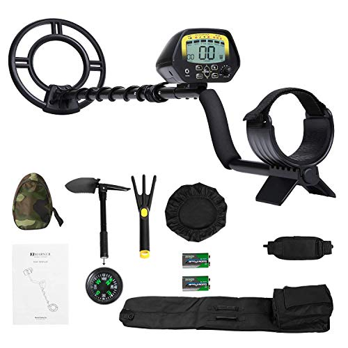 MARNUR Metal Detector for Kids and Adults with Pinpoint Waterproof Search Coil Backlit LCD Display High Accuracy Adjustable Sensitivity Metal Detector Kit for Beginners Treasure Hunt with Accessories