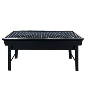 Hasika Barbecue Charcoal Grill Folding Portable Grills Lightweight Small BBQ Grills for Outdoor Picnics Camping Garden Cooking (Rectangle)