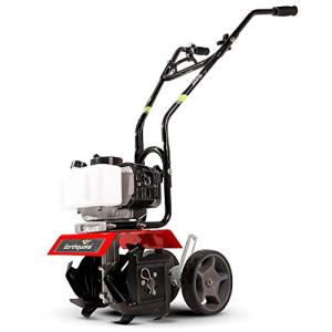 Earthquake 31635 MC33 Mini Tiller Cultivator, Powerful 33cc 2-Cycle Viper Engine, Gear Drive Transmission, Height Adjustable Wheels, 5 Year Warranty,Red