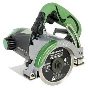 "Metabo HPT Masonry Saw, Dry Cut, 4"" Diamond Blade, 11.6-Amp Motor, 1-3/8"" Max Cutting Depth, Cuts Pavers, Concrete, Tile & More (CM4SB2)"