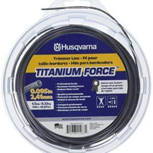 "Husqvarna Titanium Force String Trimmer Lines, 0.095"" By 1/2"", Orange/Gray"