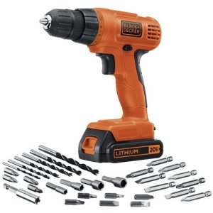 BLACK+DECKER 20V MAX Cordless Drill / Driver with 30-Piece Accessories (LD120VA)