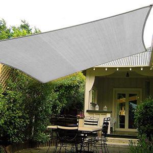 Shade&Beyond Sun Shade Sail 10'x10' Square Canopy Sail Sunshade UV Block for Patio Yard Backyard Light Grey
