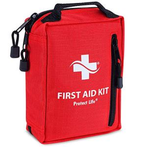 First Aid Kit – Emergency Survival Kit for Outdoors - Small First Aid Kit with Labelled Pockets for Camping, Hiking, Backpacking, Travel, Car, Cycling