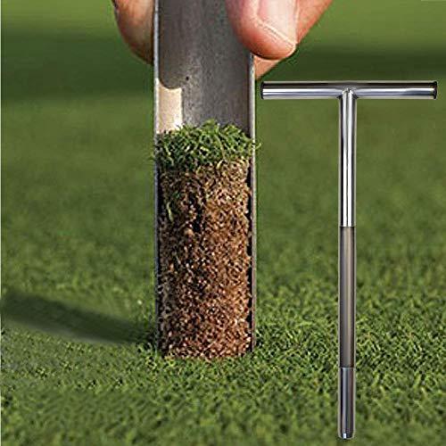 CURE SECRET 20 Inch Soil Sampler Probe Stainless Steel T-Style Soil Test Kits