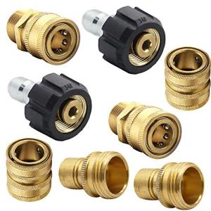 """Twinkle Star Pressure Washer Adapter Set, Quick Disconnect Kit, M22 Swivel to 3/8'' Quick Connect, 3/4"""" to Quick Release"""