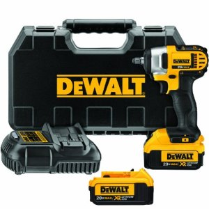 DEWALT 20V MAX Cordless Impact Wrench Kit with Hog Ring, 3/8-Inch (DCF883M2)