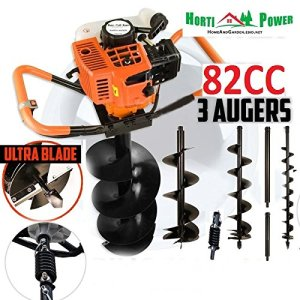 """Earth Auger Post Pole Borer 82 CC 3 Drills Bits 100 200 300 4"""" 8"""" 12"""" Ultrasharp with Extensions Professional"""